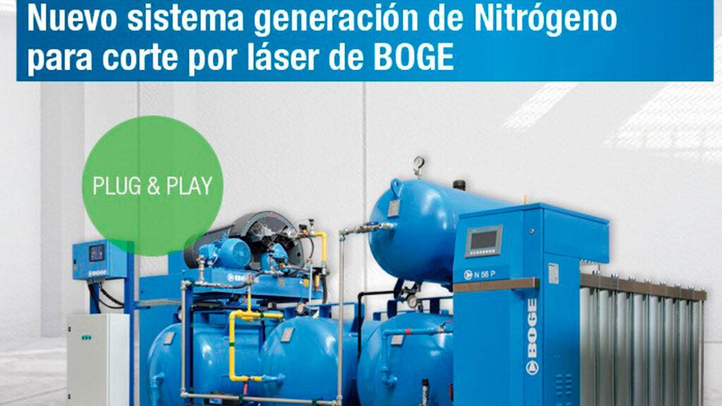 Generacion de Nitrogeno para corte BOGE