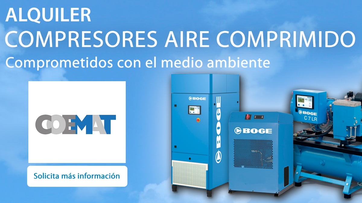 Alquiler equipos compresores de aire