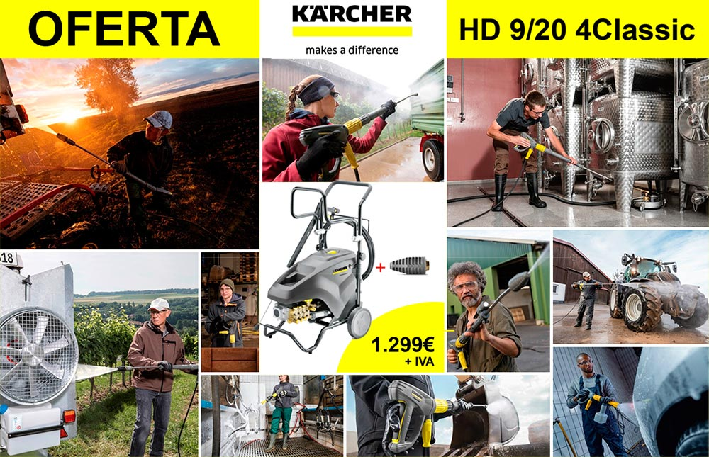 oferta hidrolimpiadora karcher hd 9/20 4 Classic